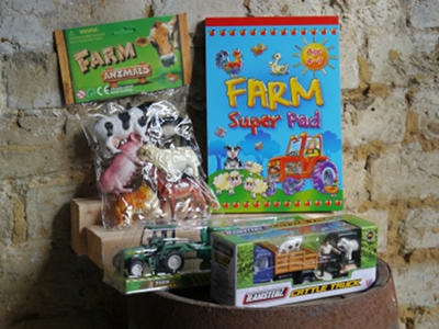 Selection of children's farm related gifts